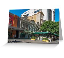 Rundle Mall - Old and New buildings  Greeting Card