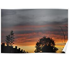 Orange And White Sky 3 Poster