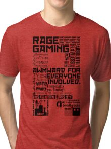 Rage Medley - Black Tri-blend T-Shirt