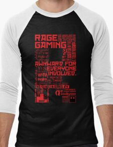 Rage Medley - Red Men's Baseball ¾ T-Shirt