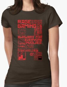 Rage Medley - Red Womens Fitted T-Shirt