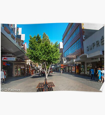 Rundle Mall - Down the Centre  Poster