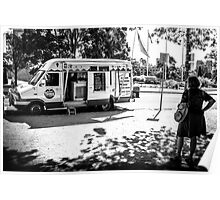 Ice creame van Poster