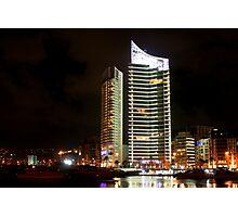 Night shot 05 - Beirut - Zaytouni Bay  Photographic Print