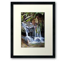 Leura Cascades Waterfall in the Blue Mountains Framed Print