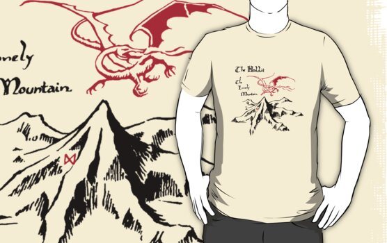 """The Lonely Mountain""-The Hobbit by FabFari"
