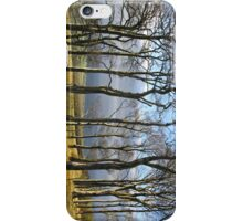 Trees on the hillside iPhone Case/Skin