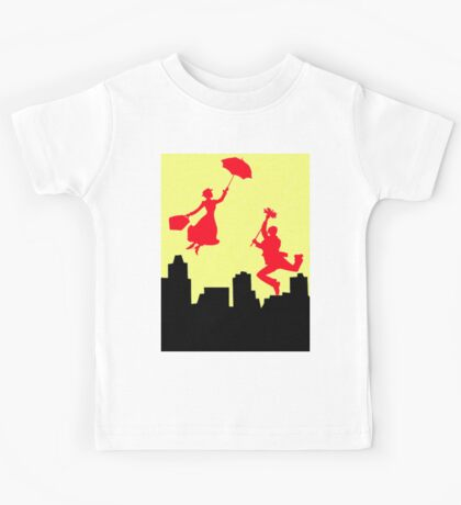 Mary poppins in the yellow sky  Kids Tee
