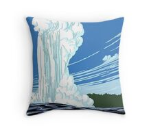 Vintage Travel Poster: Yellowstone National Park Throw Pillow