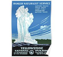 Vintage Travel Poster: Yellowstone National Park Poster