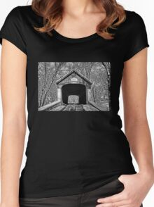 Rural Winter Women's Fitted Scoop T-Shirt