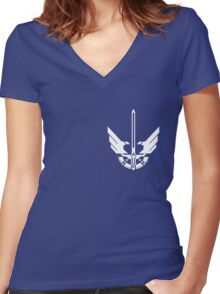 halo 4 UNSC Spartan Armor Women's Fitted V-Neck T-Shirt