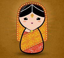 Kokeshi - Hindu Bride by arlain