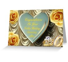 ¸¸.♥➷♥•*¨GOLDEN WEDDING ANNIVERSARY CARD¸¸.♥➷♥•*¨ Greeting Card