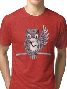 Vintage Owl. Tri-blend T-Shirt