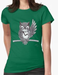 Vintage Owl. Womens Fitted T-Shirt