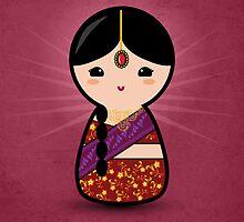 Kokeshi - Hindu Girl by arlain