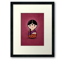 Kokeshi - Hindu Girl Framed Print