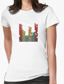 Drippy Droppy Grungy Equalizer Bars Womens Fitted T-Shirt