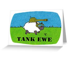 TANK EWE Greeting Card Greeting Card