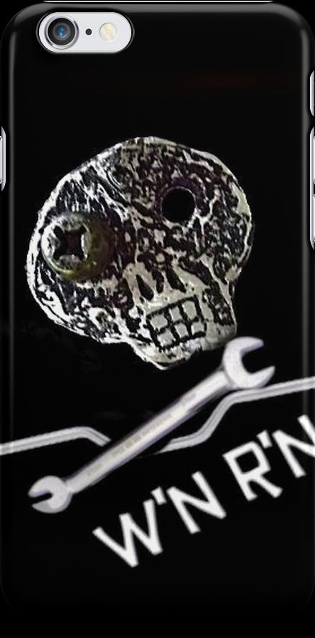 kool Wrench'N Ride'N skull iPhone case by wrenchNrideN