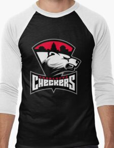 Charlotte Checkers Men's Baseball ¾ T-Shirt
