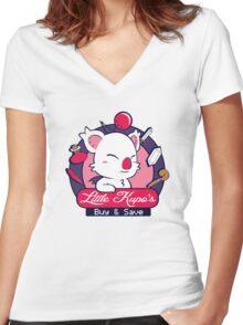 Little Kupo's Buy & Save Women's Fitted V-Neck T-Shirt