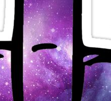 Galaxy Middle Finger Sticker