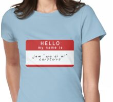 The Infernal Devices: Jem's Name (Ver 1) Womens Fitted T-Shirt