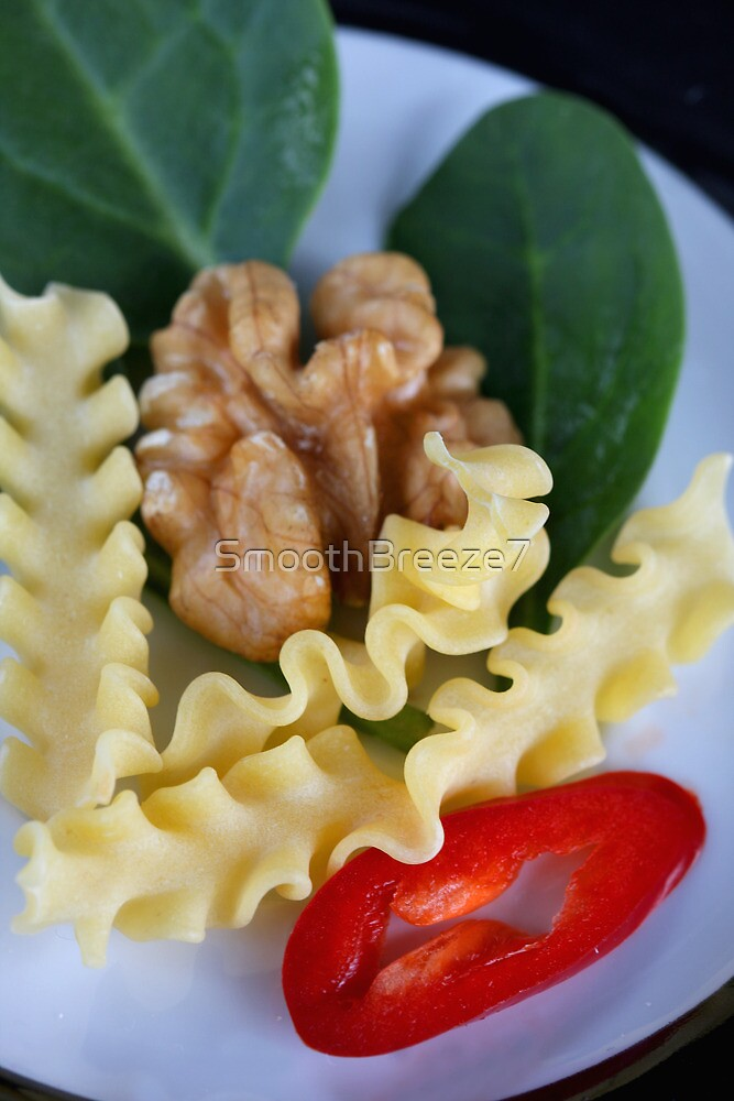 Reginette, Spinach, Walnut and Spicy Italian Dreams by SmoothBreeze7