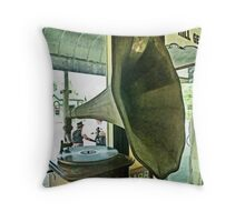 You owe me three farthings says the belle of St. Martin's Throw Pillow