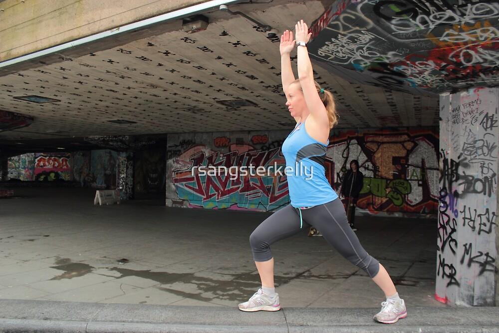 Yoga By The Skate Park by rsangsterkelly