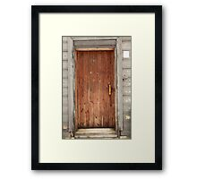 old wooden door Framed Print