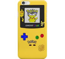 Pikachu Yellow Gameboy Edition iPhone Case/Skin