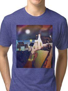 Hie Gait, the Town of Dysart, Scotland [colour version] Tri-blend T-Shirt