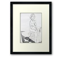 Life Drawing in Ink Framed Print
