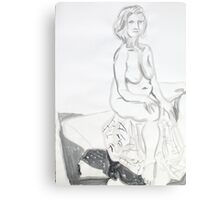 Life Drawing in Ink Canvas Print