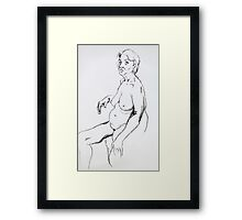 Life Drawing Sitting Framed Print