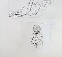 Life Drawing Terry by Sylvia  Hollis