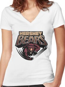 Hershey Bears Women's Fitted V-Neck T-Shirt