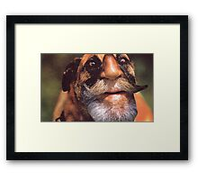 M Blackwell - Rough Framed Print