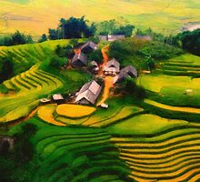 a village in vietnam by Adam Asar