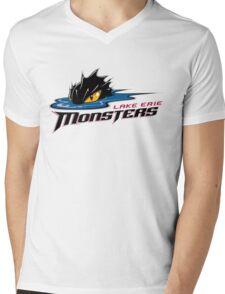 Lake Erie Monsters Mens V-Neck T-Shirt