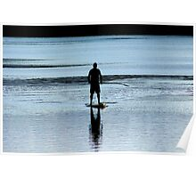 Paddle board late afternoon Poster
