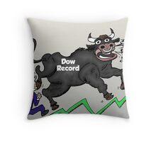 Taureau de Wall Street et Oncle Sam Throw Pillow