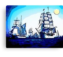 blue voyage Canvas Print