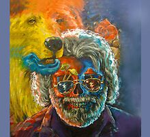 Grateful Dead - Jerry Garcia, psychedelic mushroom steal your face case  by Harry  Huang