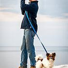 Photographer & Dog by Mikell Herrick