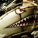 The shark. Custom painted Harley tank by htrdesigns