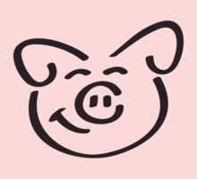 Cute Happy Piglet Face by Style-O-Mat